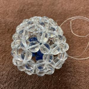 毎日がスペシャル 午後はまたまた、水晶でパナシーアオーヴ®️ 入りのボールを作りました