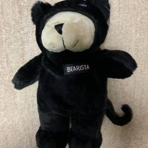 スタバ ハロウィン黒猫ベアリスタ