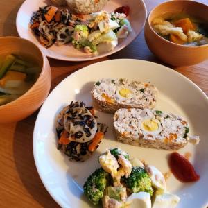 豆腐のミートローフの晩ごはん