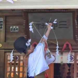 明日は小動神社の湯花神楽祭
