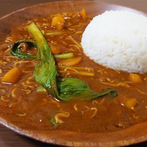 シラスとたくあんと小松菜のカレー (簡単ルーレシピ)