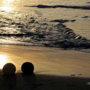砂浜の夕焼けは赤くならないで終わる