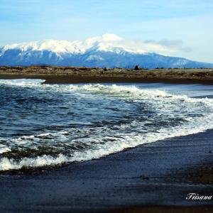 真冬の海岸散歩