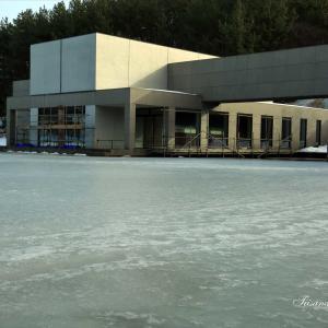 拳湖が結氷しました