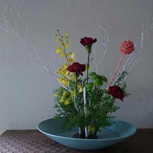 ランラン玄関の生け花NO.121 坂戸整体院ランラン