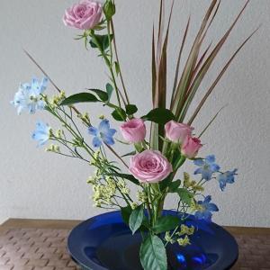 ランラン玄関の生け花NO.152 坂戸整体院ランラン
