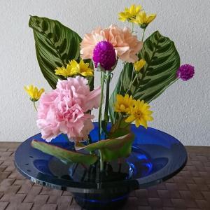 ランラン玄関の生け花NO.157 坂戸整体院ランラン