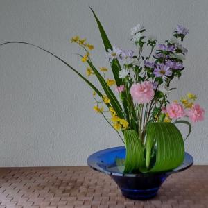 ランラン玄関の生け花NO.175 坂戸整体院ランラン