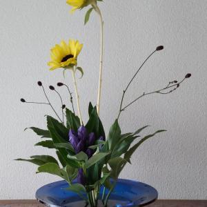 ランラン玄関の生け花NO.181