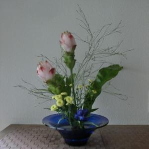 ランラン玄関の生け花NO.106