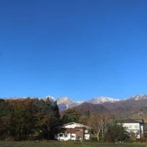 今日の天気 晴れ よく冷えました。