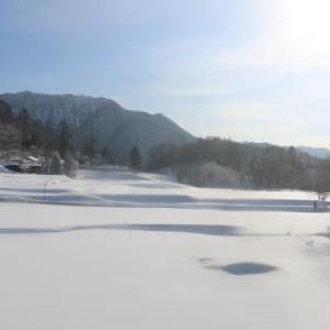 今日の天気 晴れ朝はよく冷えました。