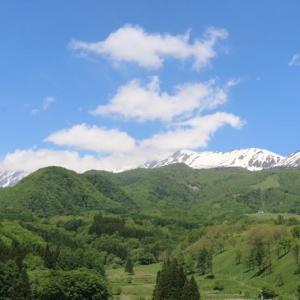 今日の天気 晴れ アルプスの残雪がきれい