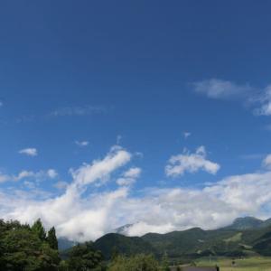 今日の天気 晴れ アルプス 稲穂 蕎麦畑