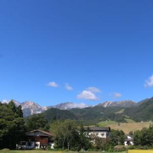 今日の天気 台風一過 晴れ 快晴。