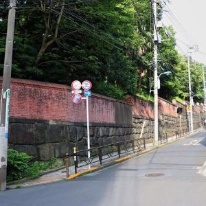 石垣と煉瓦 無縁坂