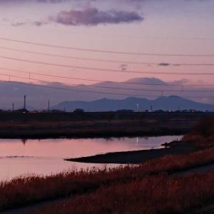 赤城・浅間 黄昏遠望