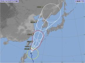 台風13号…