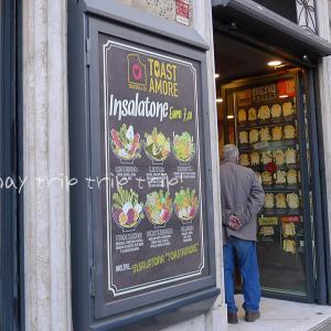 イタリア旅行記2018(40)お洒落なホットサンドカフェ「TOAST AMORE」☆☆