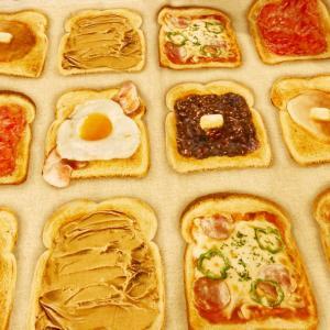 美味しそうなパン柄生地でお弁当包み!