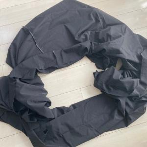 メートル107円(税込)グレー綿ローンでギャザースカート。なんと4丈使ってみた!