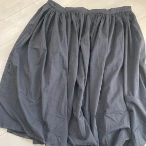 メートル107円の広幅ギャザースカートをシワ加工してみました!
