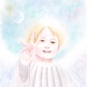 家族を天使画に!