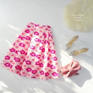 詳細×フリンジフラワースカート~ラグジュアリー感たっぷり~明日(金)夜21時×WEB新