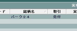 パーク24の一部を売却(T_T)/~~~
