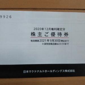 日本マクドナルドホールディングス(2702)の優待です( *´艸`)