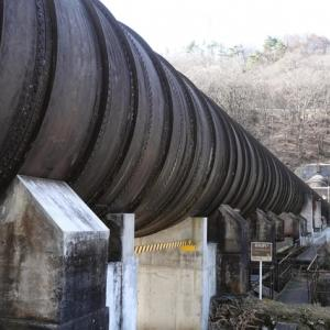 島川原発電所送水管露頭