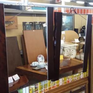 北海道民芸 HM849 掛鏡(耳付) 樺材 2枚ありますよ!