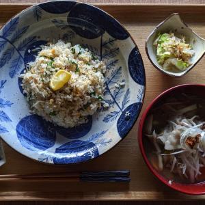 炒飯と豚汁