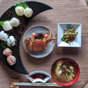 手毬寿司とモクズ蟹