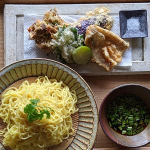 キスの天ぷらでつけ麺