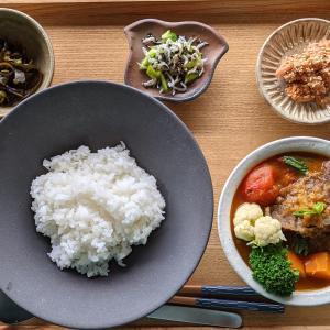 鰻蒸篭(昨日の朝ごはん)とご飯の友(今朝のご飯)