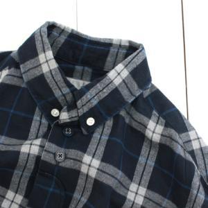 nisica (ニシカ) ボタンダウンシャツ ネイビーチェック (NIS-876)