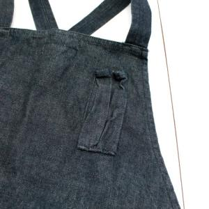 SASSAFRAS WHOLE HOLE APRON 13.5oz DENIM