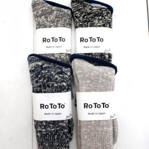 RoToTo(ロトト)LOW GAUGE SLUB CREW SOCKS