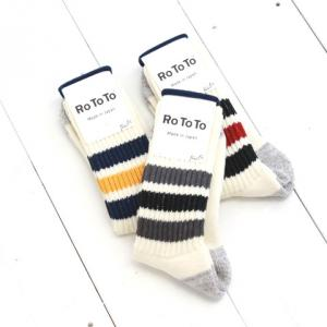 RoToTo(ロトト) COARSE RIBBED OLD SCHOOL SOCKS