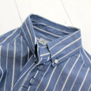 nisica(ニシカ)ストライプB/Dシャツ