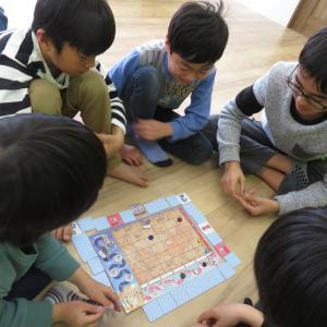 UNICO大野城教室でボードゲームワークショップを開催(2019.2.23)