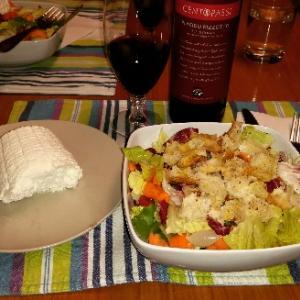 大好きなリコッタチーズと赤ワインを楽しむ❤イタリアに住むようになってチーズやワインがさらに大好き