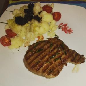 大好きなイタリア牛ステーキディナー☆めっちゃ美味しい~よね、やっぱりお肉大好き(^^)アペリティ