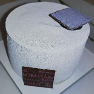 ピスタチオのチョコムースケーキ★中にチェリー漬もはいってる。Bompiani