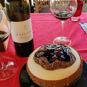 モンブランのアイスケーキ(*'▽')狙ってたジェラテリアのケーキで超美味だ♥Guttilla