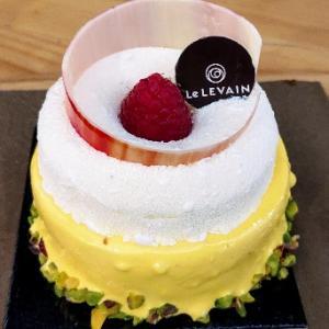 美ケーキ(^^)オレンジとラズベリーバニラムース仕立、ふんわり軽い食感で美味☆Le Levain