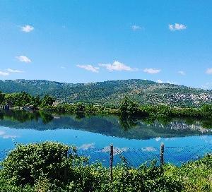 朝から美しいプライベート湖でpgスキューバダイビング★ドローン持ってきた友人達、綺麗な湖が上から