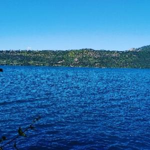 また今週もアルバーノ湖に来てます(^^)良い天気♥pgはスキューバ講習(笑Lago Albano