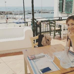 海辺ホテルテラスでシーフードランチ♪Pizzeria del Mare チヴィタ
